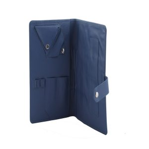 Folder With Woven Leather LG 278 BLUE