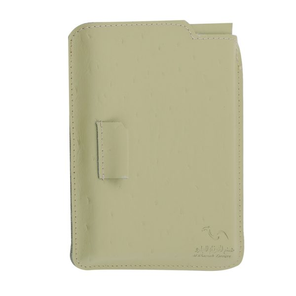 Notebook  Set With Woven Leather LG 254 Beige & Blue