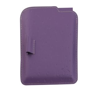 Notebook Set With Woven Leather LG 254 Purple & Pink